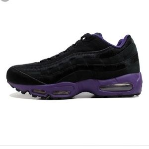 Nike Men Air Max 95 Black and Purple